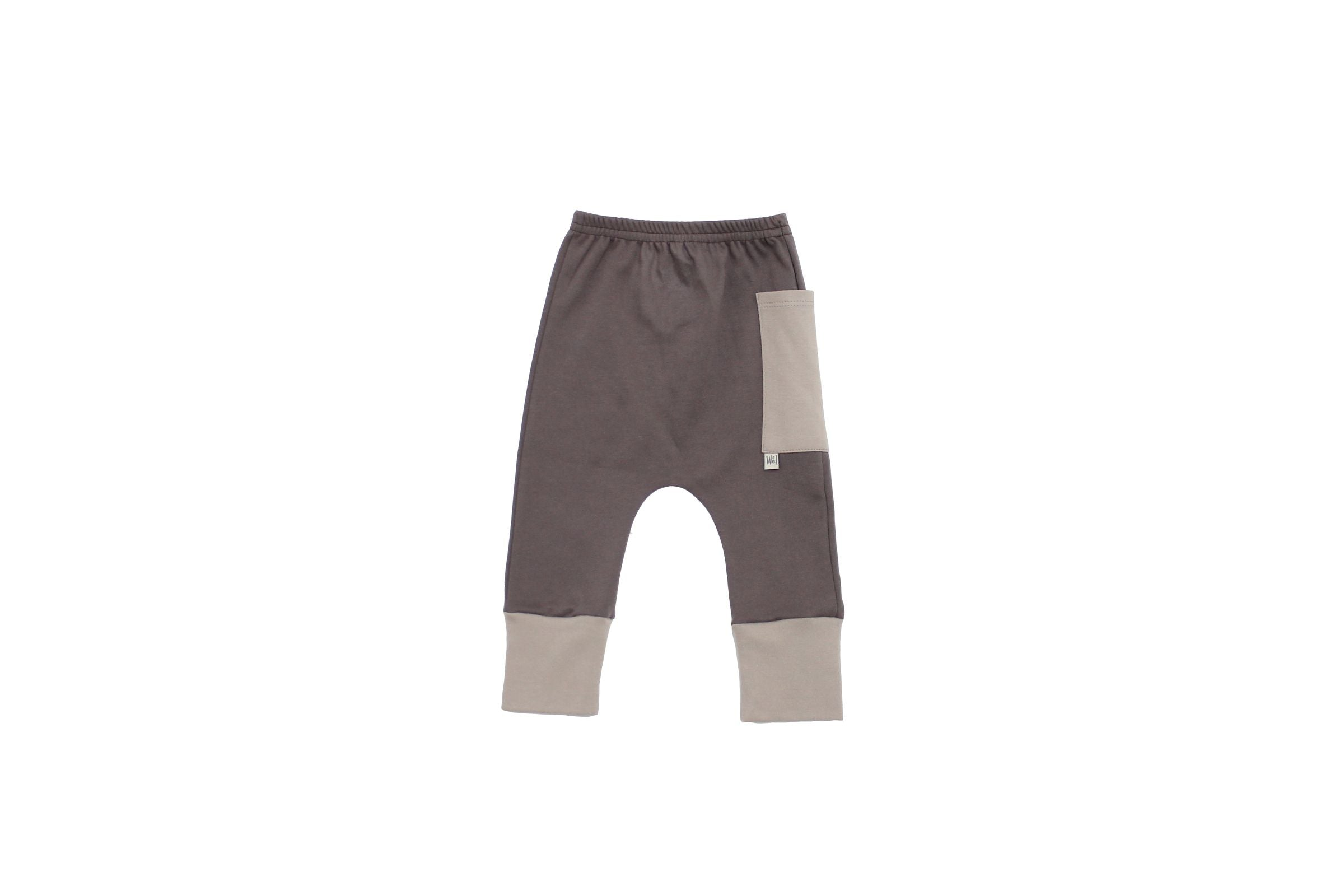 Euro Jogger with Contrast Pocket - Seal Grey with Dove 2