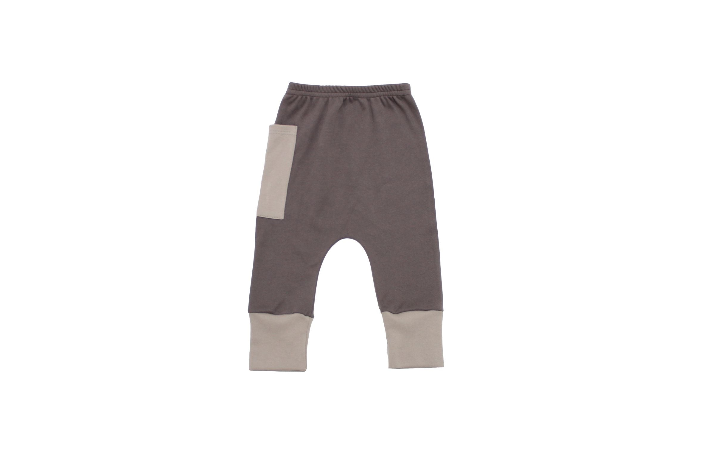 Euro Jogger with Contrast Pocket - Seal Grey with Dove 1