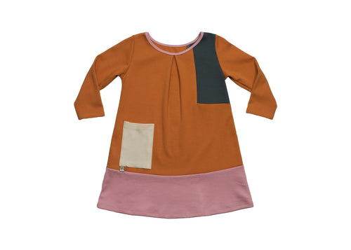 Geometric Shirley Dress - Spice with Forrest