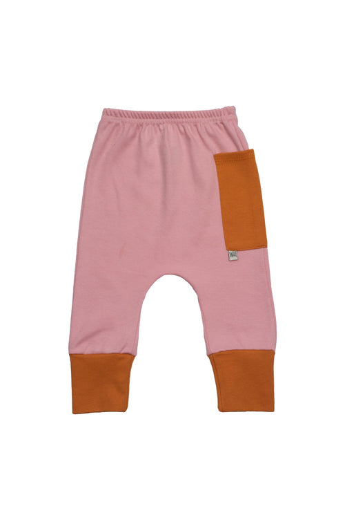 Euro Jogger with Contrast Pocket - Petal with Spice 1
