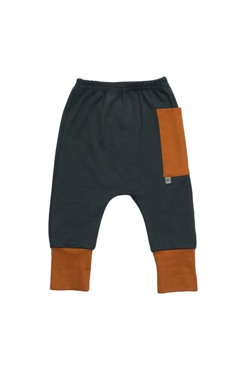 Euro Jogger with Contrast Pocket - Forrest with Spice