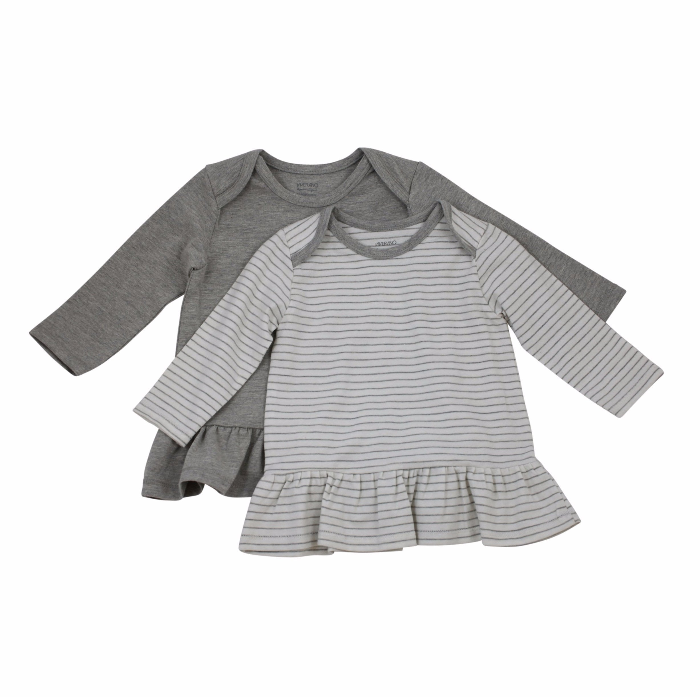 Jersey Dress Set -Grey and Grey Stripes 1