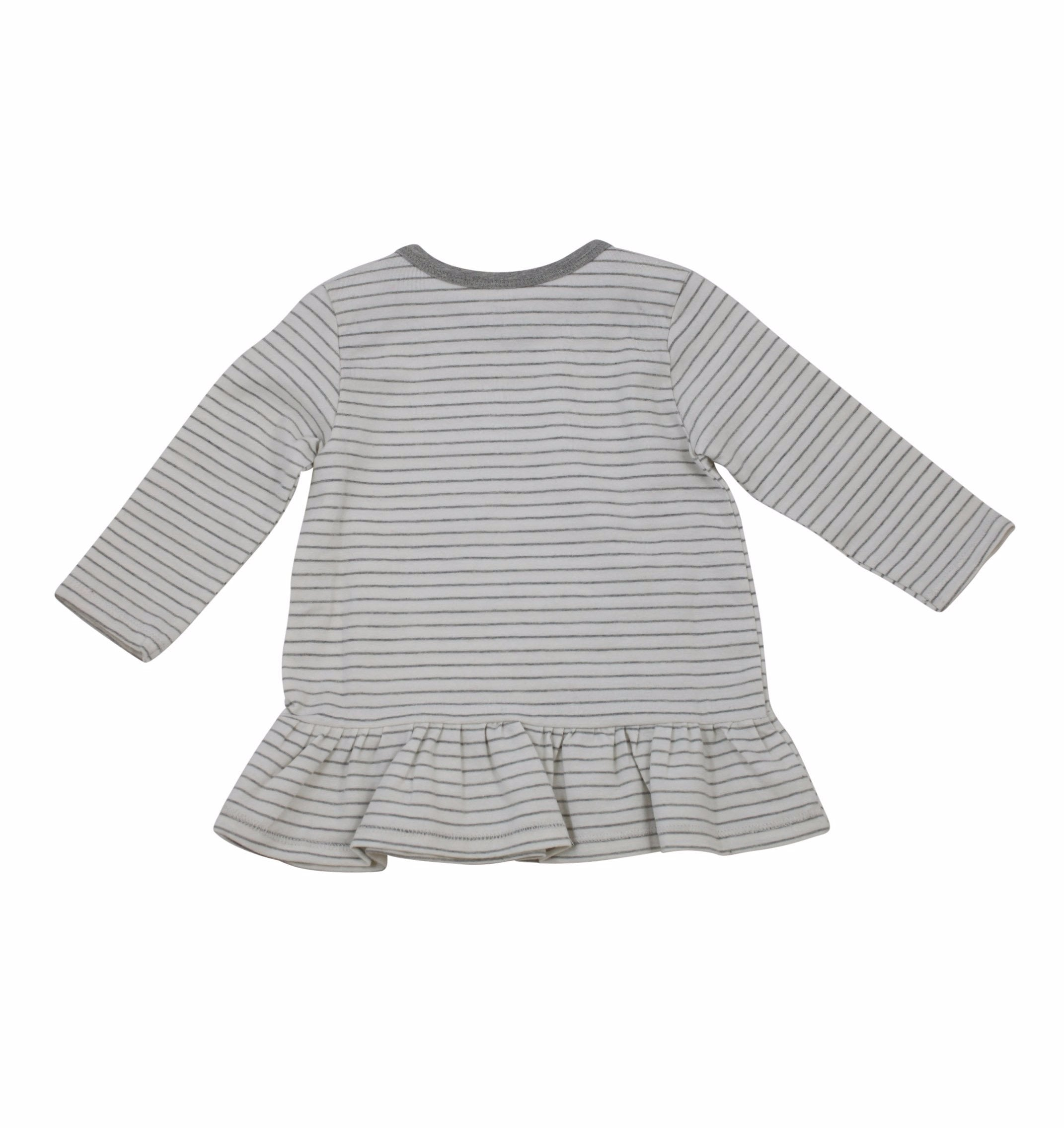 Jersey Dress Set -Grey and Grey Stripes 2