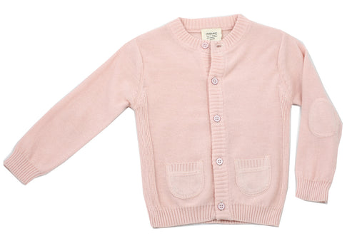 Milan Flat Cardigan Button Front - Blush