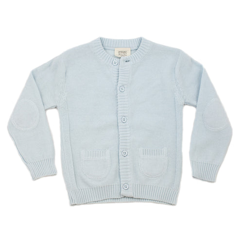 Milan Flat Cardigan Button Front - Sky Blue