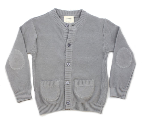 Milan Flat Cardigan Button Front - Grey