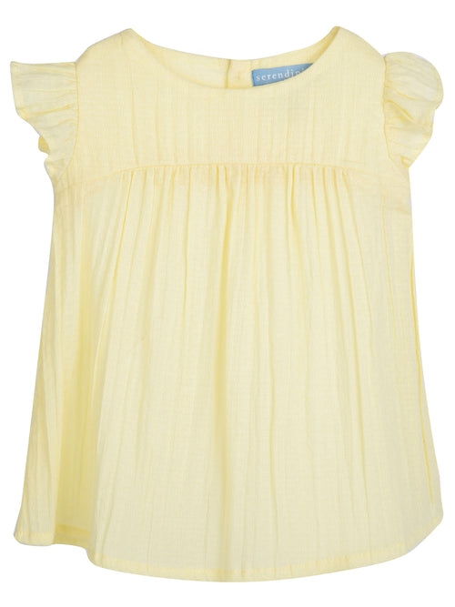 Organic Baby Crepe Dress in Lemonade Yellow