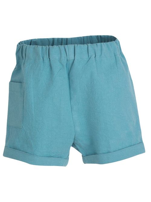 Organic Baby Shorts in Lagoon Blue
