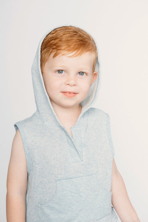 Boy in Organic Blue Franklin Hoodie
