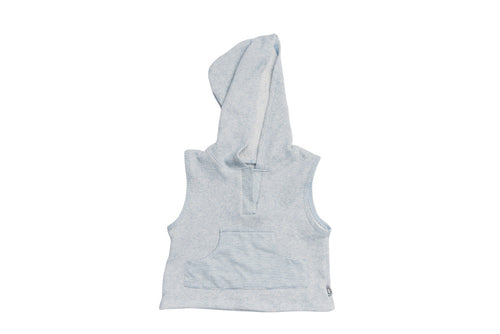Organic Blue Franklin Hoodie - Front