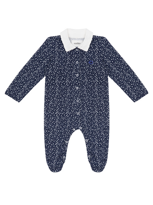 Organic Navy Bubble Footie