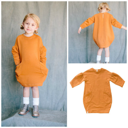 Bubble Dress - Ochre w look