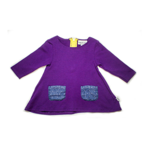 Purple Central Park DressOrganic, Made in the USA, by Genuineblox