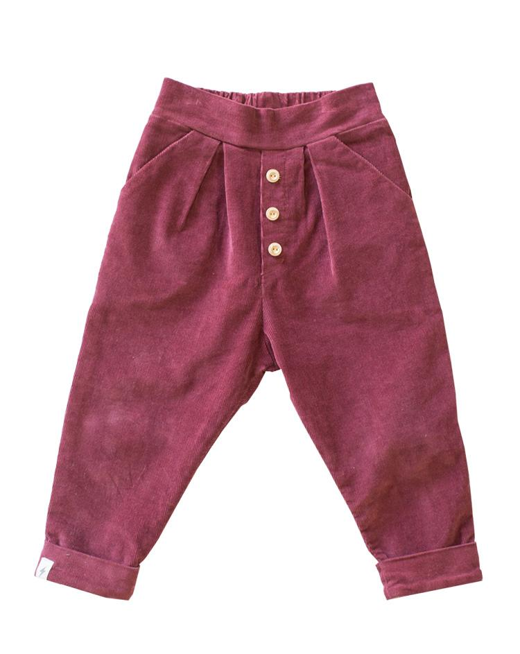Cuffed Pants - Plum