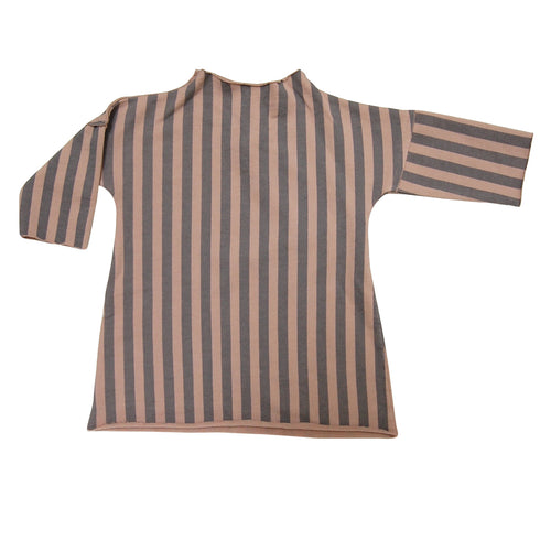 Pullover Dress - Taupe Stripe