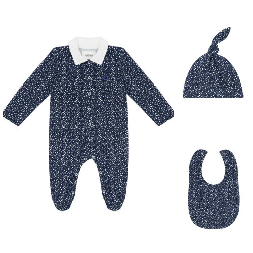 Organic Navy Bubble Newborn Set