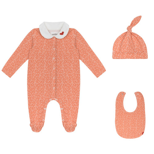 Organic Pink Bubble Newborn Set