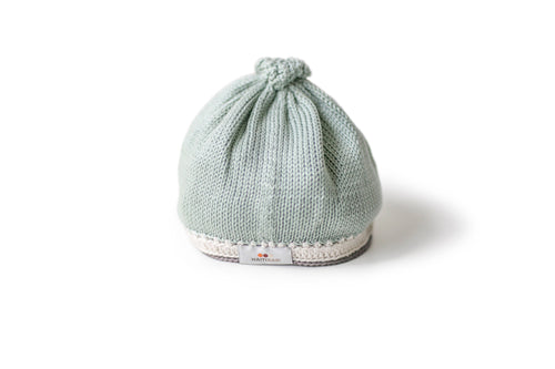 Handmade Pima Cotton Baby Hat in Sage