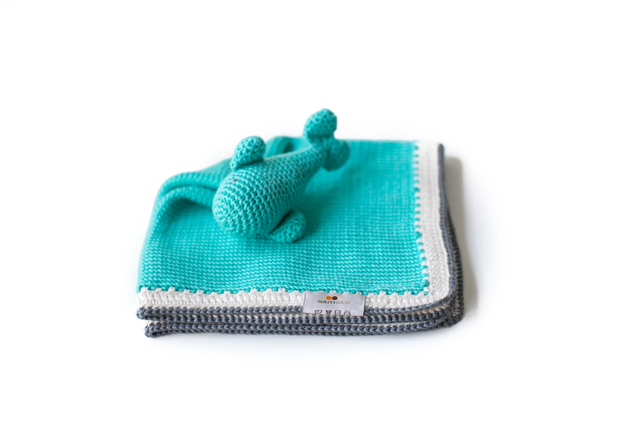 Handmade Whale Lovey in Teal -1