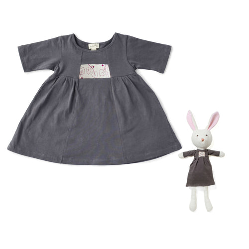 Hazel Print Dress and Penelope Rabbit