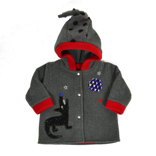 Howling Wolf Hooded Coat