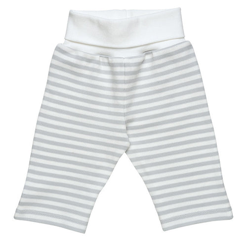 Rolled Waist Pant with Grey Stripes