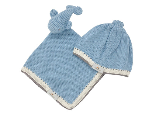 Handmade Lovey Gift Set in Light Blue