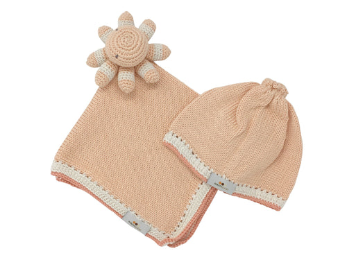 Handmade Lovey Gift Set in Peach