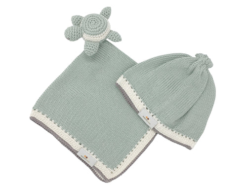 Handmade Lovey Gift Set in Sage