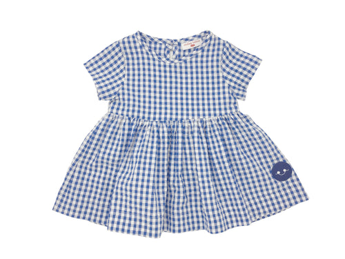 ALICE BLUE GINGHAM SUNDAY DRESS