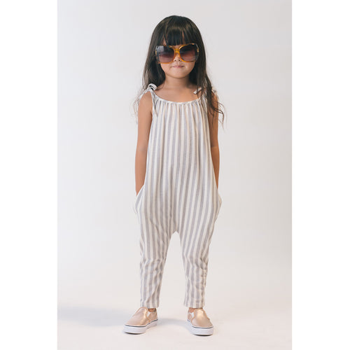 Girl in Organic Jersey Jumpsuit