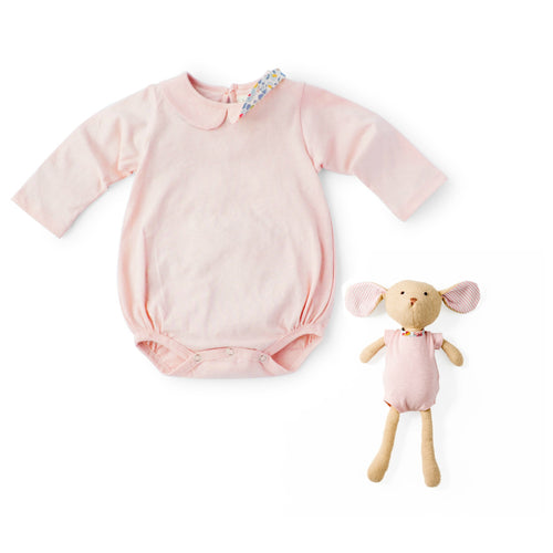 Thistle Pink Romper and Annicke Mouse