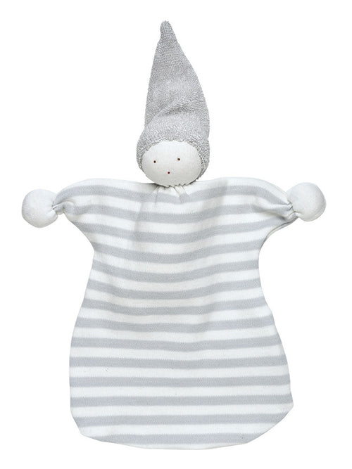 Sleeping Lovey Doll in Grey Stripes