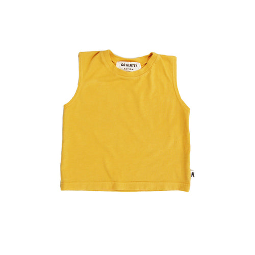 Organic Muscle Tee in Golden