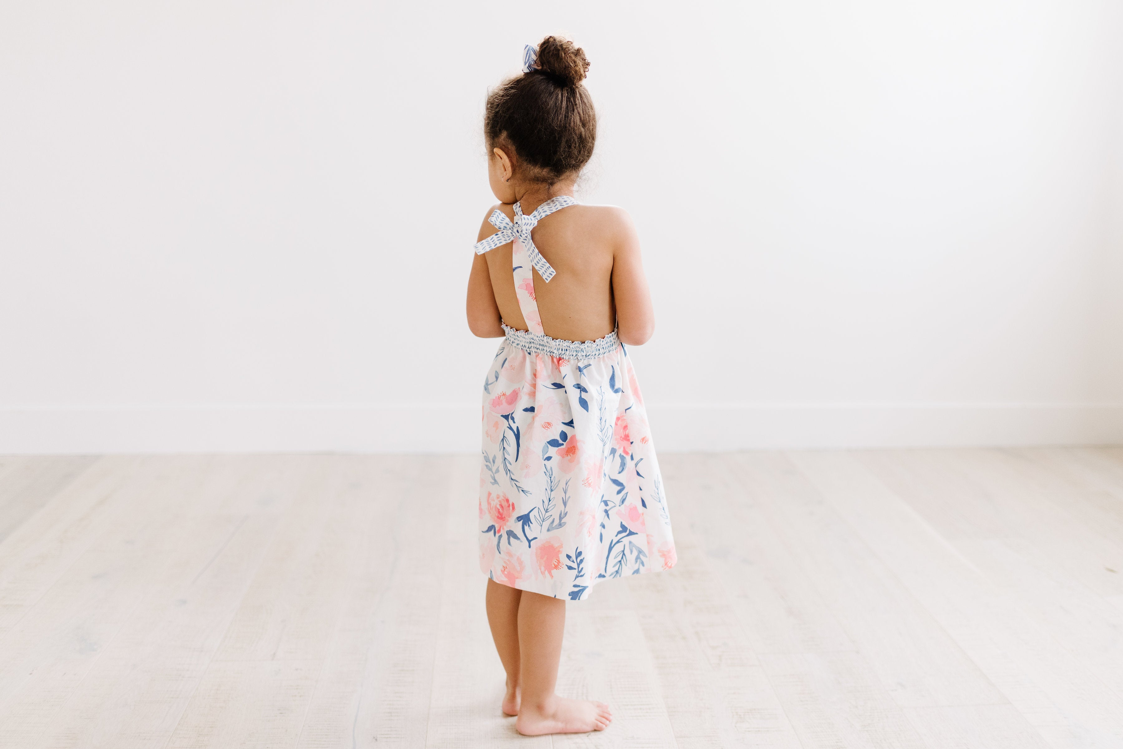T-Back Dress in Watercolor Floral
