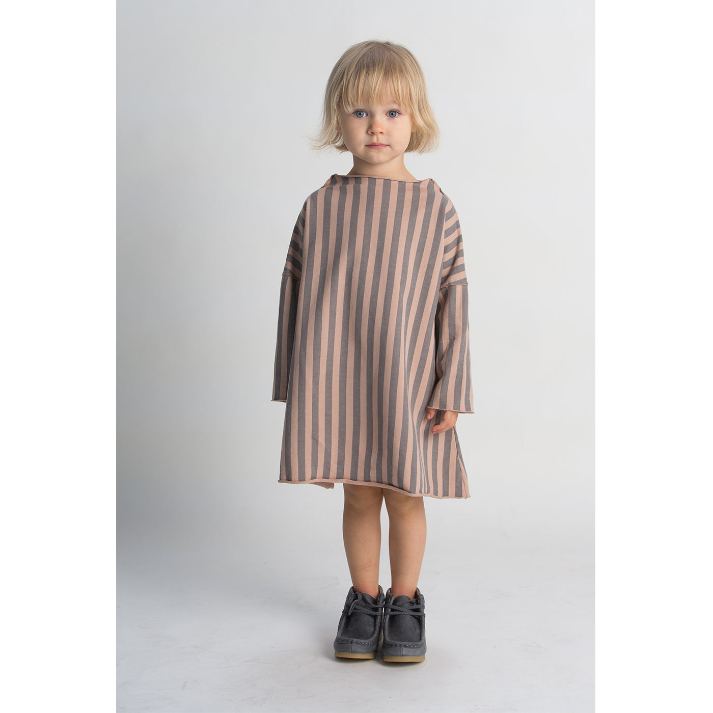 Pullover Dress - Taupe Stripe Lifestyle