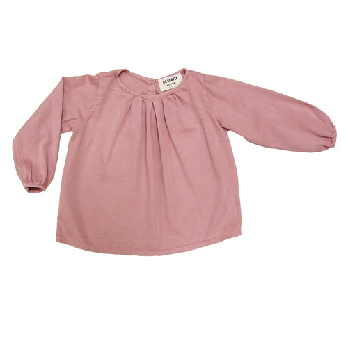 Pleated Blouse - Woodrose