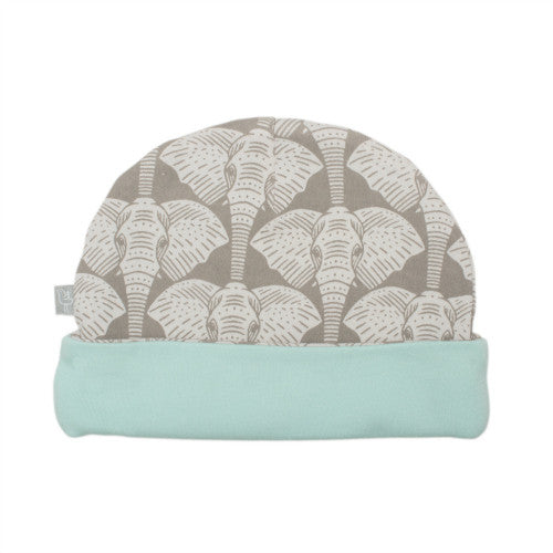 Reversible Hat - Elephants First side