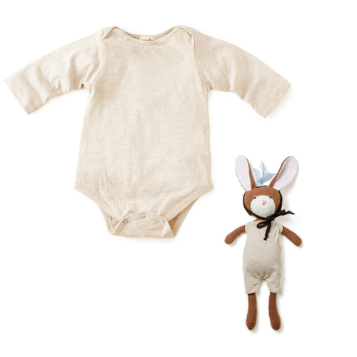 Yak Down Romper and Zoe Rabbit
