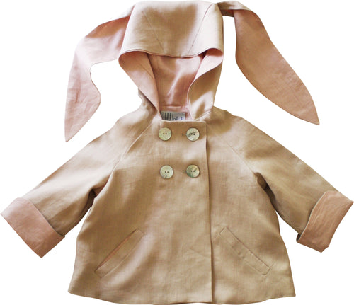 Summer linen bunny jacket in shell pink
