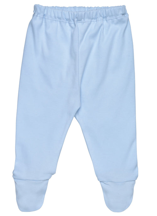 Organic Footed Pants in Blue