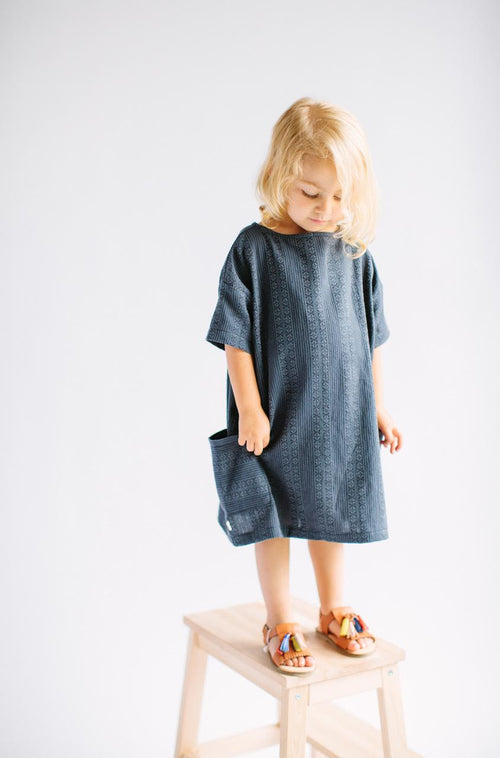 Girl in Slouch Dress in Moroccan Nights