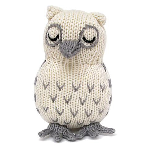 Organic Owl Rattle - Front View