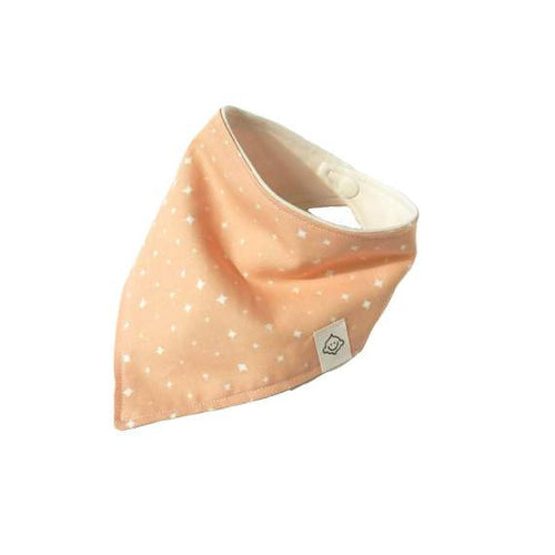 Pink Star Dots Bandana, Organic, Handemade in USA, by Genuineblox