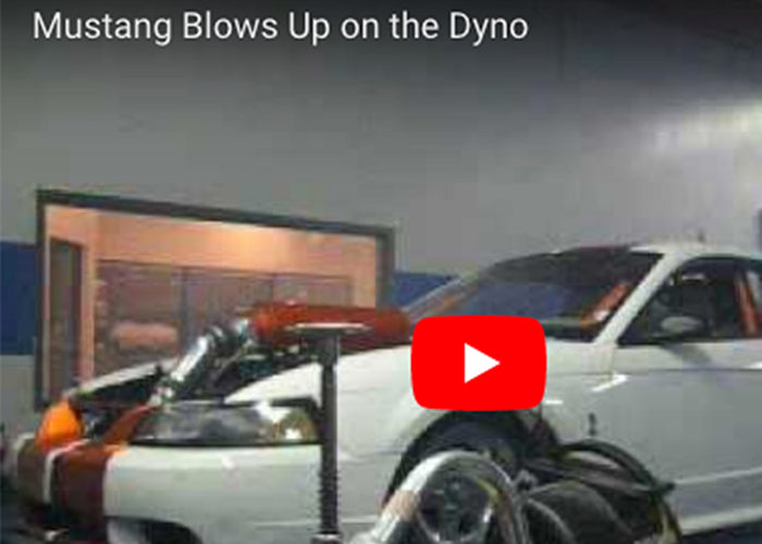 Ford Mustang Drag Car Blows Up