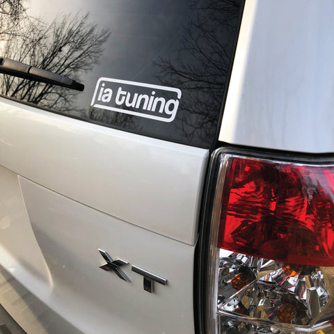 ia tuning vinyl decal - white 5""