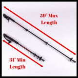 Trekking Poles with Pepper Spray and Knife Accessories, Pair (2 Sticks)