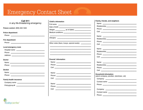BabyCenter First Year Emergency Guide