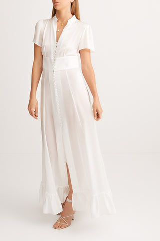 SLEEPING WITH JACQUES Mandy Dress - White