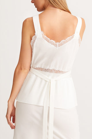 SLEEPING WITH JACQUES Osiris Camisole - White